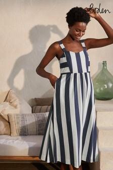 Boden Blue Lucy Jersey Stripe Dress