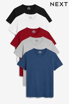 Burgundy Mix T-Shirts Five Pack