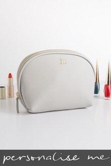 Personalised Grey Cosmetic Bag