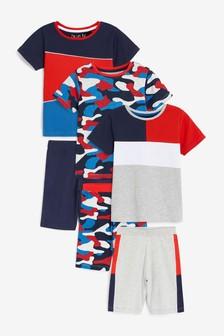 Red/Blue Camo 3 Pack Short Pyjamas (9mths-12yrs)