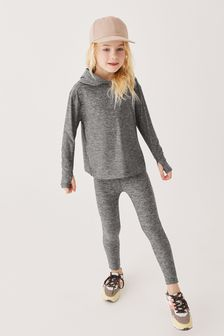 Dark Grey Marl Sports Leggings (3-16yrs)