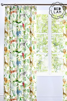 Jungle Kids Pencil Pleat Curtains by Bedlam