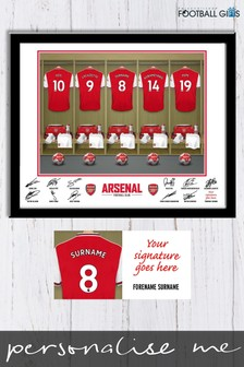 Personalised Arsenal Dressing Room Print by Personalised Football Gifts
