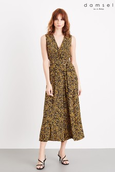 Damsel In A Dress Yellow Damaris Leopard Jumpsuit