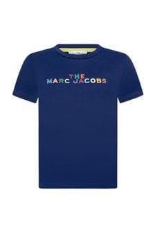 Marc Jacobs Boys Blue Cotton T-Shirt
