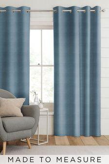 Otto Aqua Blue Made To Measure Curtains