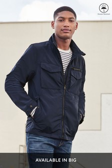 Navy Utility Style Funnel Neck Jacket