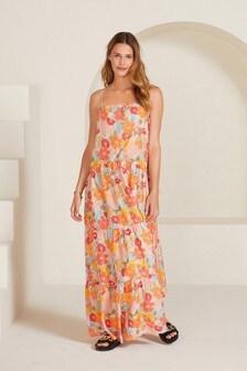 Floral Bandeau Maxi Dress
