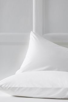 White  Set of 2 Cotton Rich Pillowcases