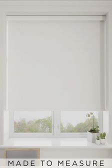 Shola Ghost White Made To Measure Roller Blind