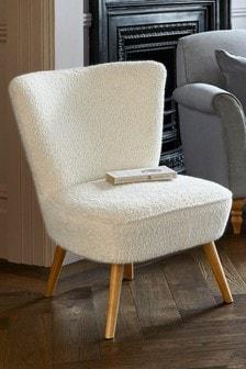 Faux Sheepskin Natural Ella Chair
