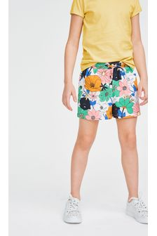 Floral Single Jersey Shorts (3-16yrs)