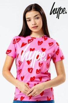 Hype. Heart Print T-Shirt