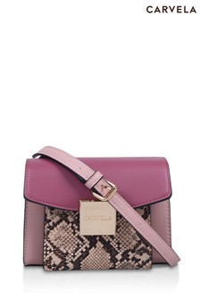 Carvela Pink Mini Hoop Pocket Cross Body Bag