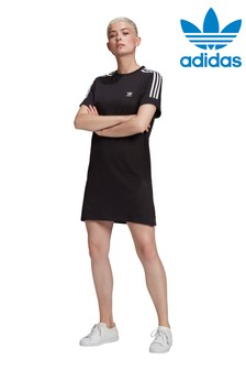 adidas Originals 3 Stripe T-Shirt Dress