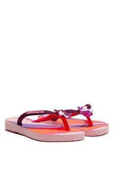 Havaianas Girls Pink Unicorn Flip Flops