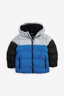 Blue Colourblock Padded Jacket (3-16yrs)