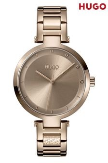 HUGO Hope Beige Gold IP Bracelet Watch