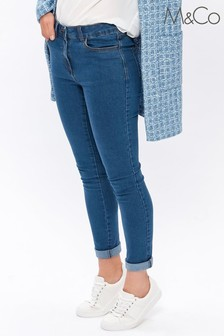 M&Co Blue Basic Slim Jeans