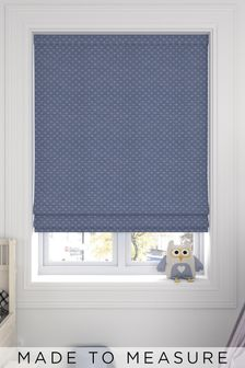Leta Navy Blue Made To Measure Roman Blind