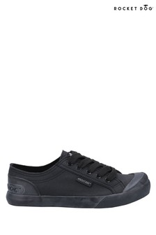 Rocket Dog Black Jazzin Canvas Fable Lace Up Trainers