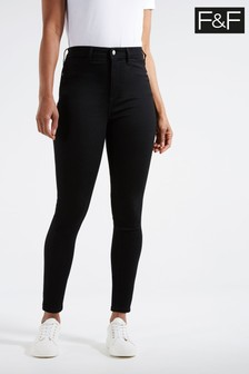 F&F Tube Black Jeans