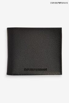 Emporio Armani Black Embossed Wallet