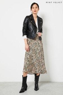 Mint Velvet Maeve Floral Slip Midi Skirt