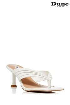 Dune London White Marbelle Toe Post Sandals