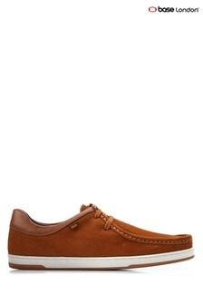 Base London Tan Dougie Suede Lace-Up Shoes