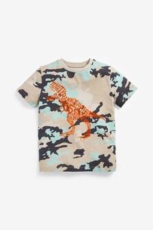 Camo Dino Graphic T-Shirt (3-16yrs)