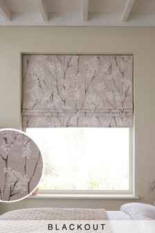 Pretty Blossom Print Blackout Roman Blind