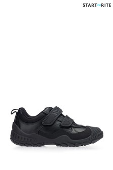 Start-Rite Extreme Pri Black Leather Wide Fit Shoes