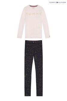 Tommy Hilfiger Pink Glitter Pyjama Set