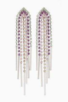 Multi Pastel Color Chandelier Drop Earrings