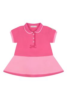 Moncler Enfant Moncler Baby Girls Pink Cotton Dress