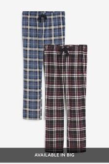 Navy/Plum Cosy Pyjama Bottoms Two Pack