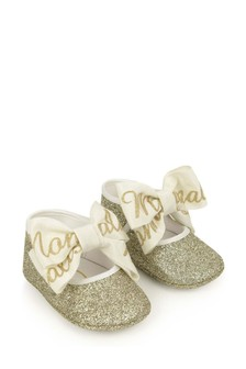 Baby Girls Gold Glitter Pre-Walker Shoes