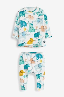Multi Pastel Print Stretch Jersey Character T-Shirt And Leggings Set (0mths-2yrs)