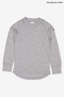 Polarn O. Pyret Grey Soft Merino Thermal Top