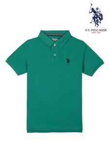 U.S. Polo Assn. Green Core Pique Polo Shirt