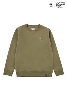 Original Penguin® Green Penguin Pete Crew Sweat Top