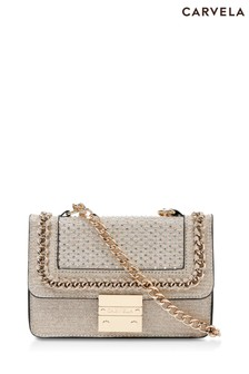 Carvela Gold Mini Bailey Cross Body Bag