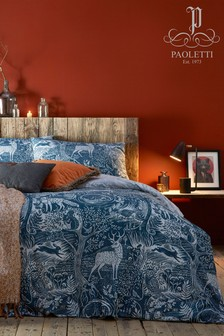 Riva Home Winter Wonderland Stag Duvet Cover and Pillowcase Set