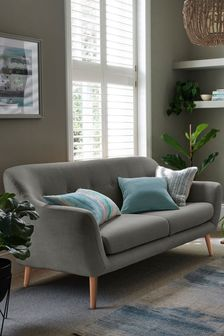 Soft Marl Warm Grey Lacey Small Sofa With Light Legs