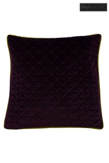 Quartz Geo Quilted Velvet Cushion by Riva Home