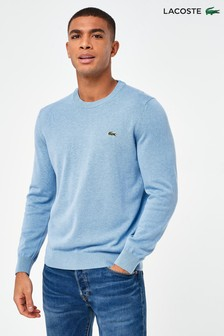 Lacoste® Blue Marl Crew Neck Sweater