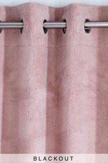 Cosy Fleece Eyelet Blackout Curtains