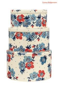 Set of 3 Emma Bridgewater Anemone Round Nested Cake Tins