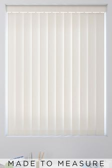 Tonal Stripe Cream Made To Measure Vertical Blind